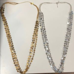 Set of two necklaces - super light weight.